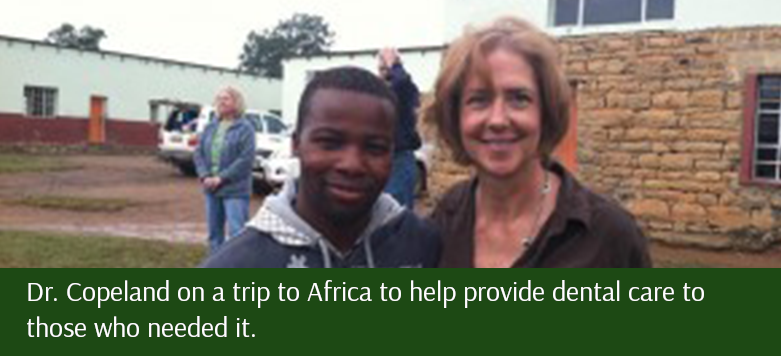 Dr. Copeland on a trip to Africa