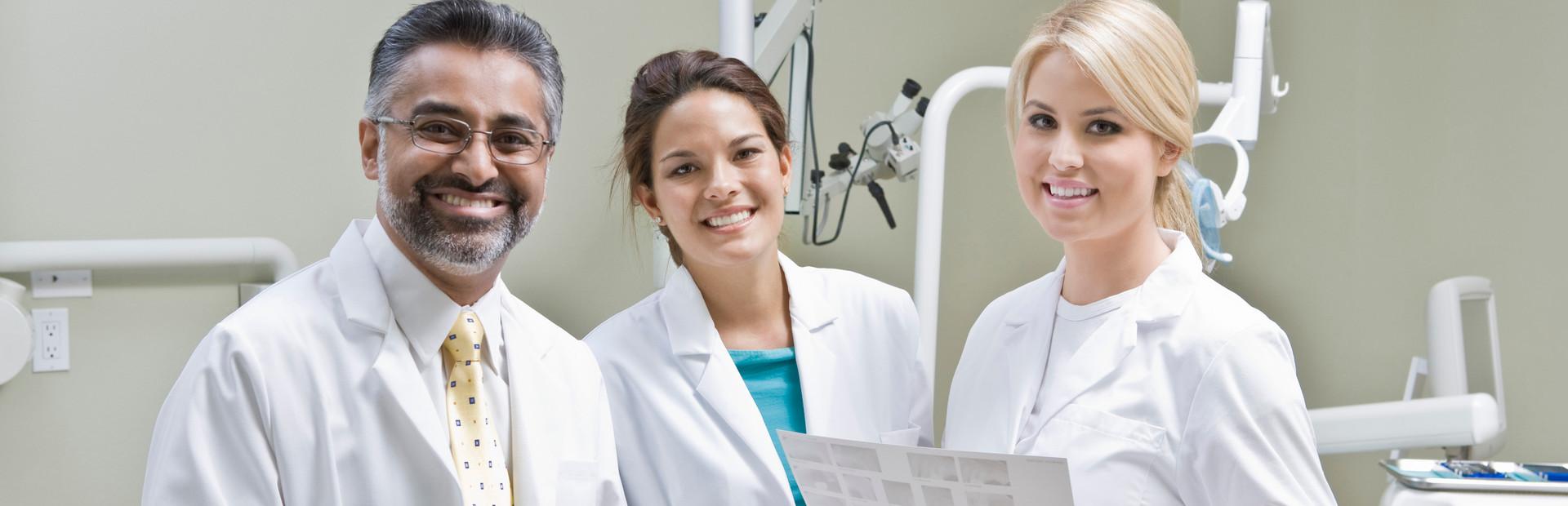 Dentists smiling together