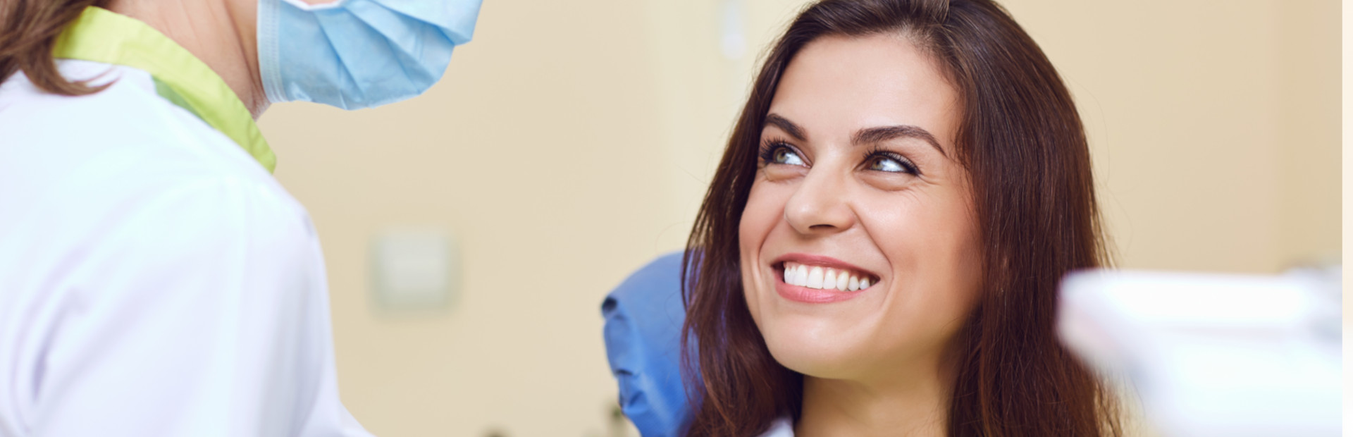 Patient smiling at the dental clinic